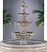 Four Tier Renaissance Fountain In Toscana Pool #5705F18
