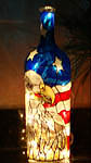 Eagle with American Flag Wine Bottle