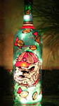 UGA Bulldog Painted Wine Bottle