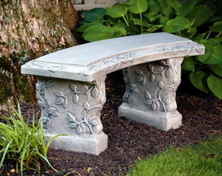 ... curved stone garden bench wayfair orlandistatuary furniture curved