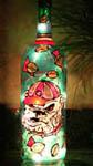 UGA Bulldog Painted Wine Bottle
